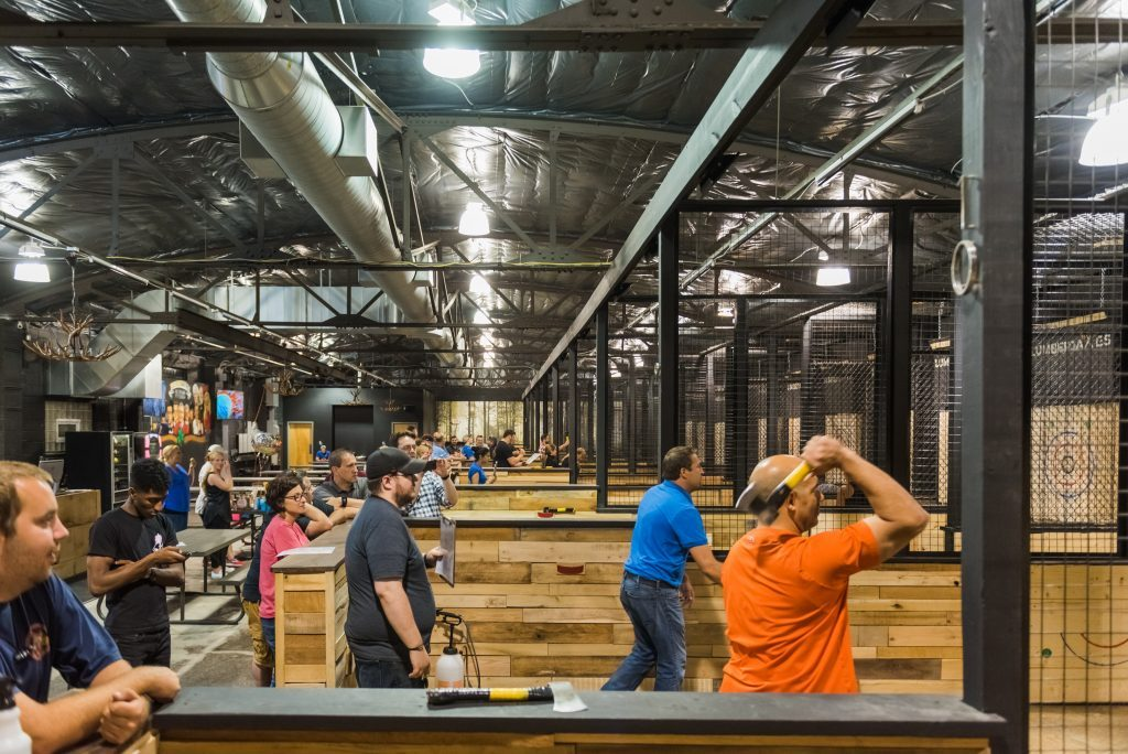 Corporate Events Axe Throwing Event